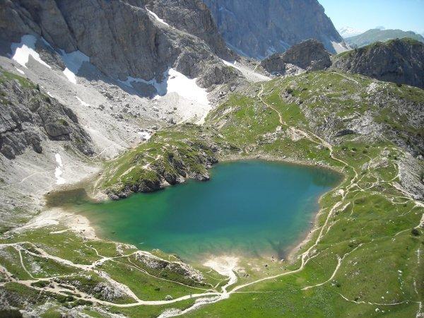 Lago coldai cima coldai rifugio coldai escursione dai for Piani di fattoria del vermont
